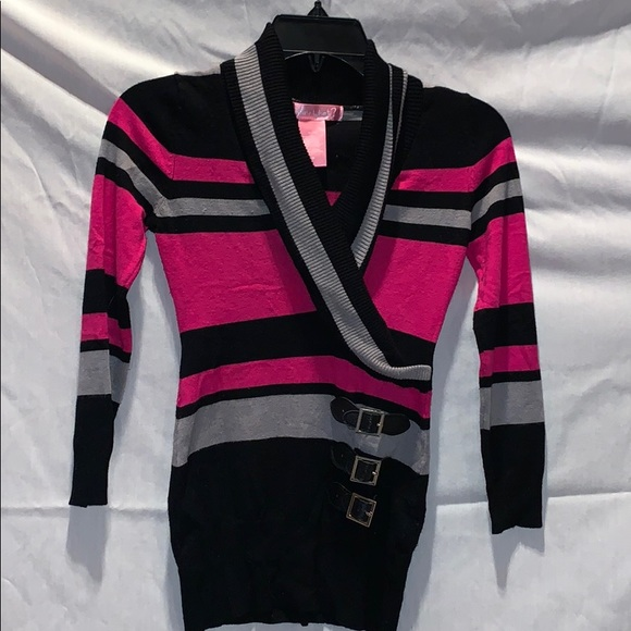 Say What? Other - Long striped sweater